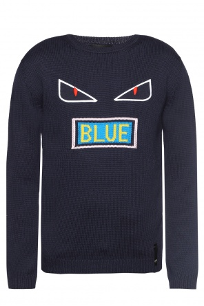 Eye motif sweater od Fendi