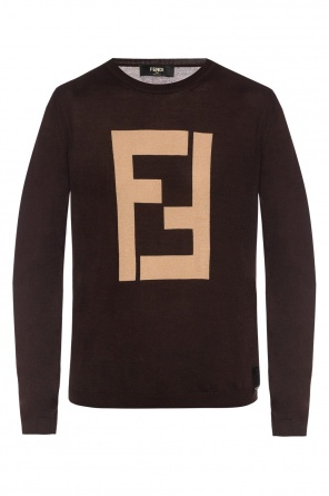 Embroidered sweater od Fendi