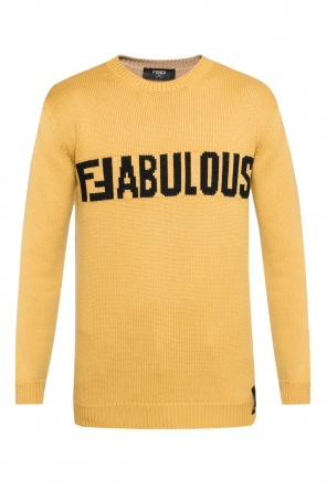 Embroidered lettering sweater od Fendi