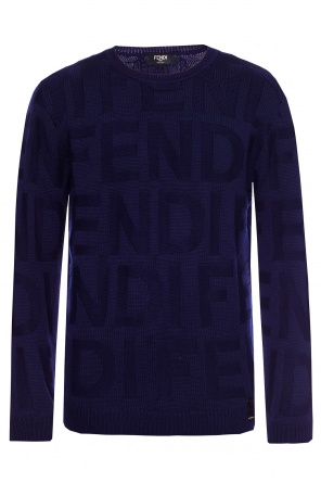 Sweater with an embroidered logo od Fendi