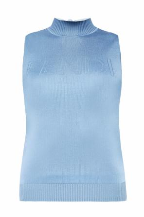 Sleeveless silk top od Fendi