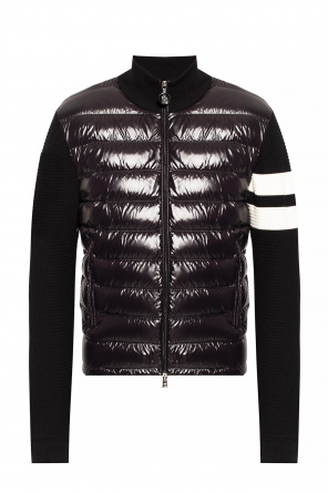 Jacket with band collar od Moncler
