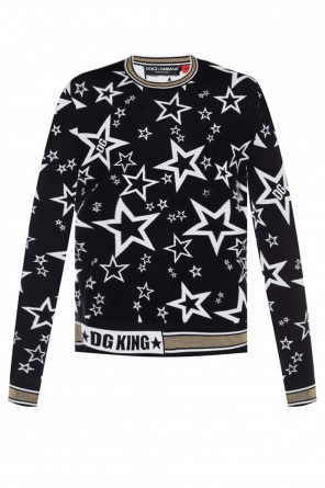 Sweater with motif of stars od Dolce & Gabbana