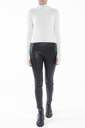 Cropped ribbed sweater od Helmut Lang