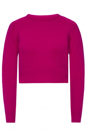 Cropped crewneck sweater od Helmut Lang