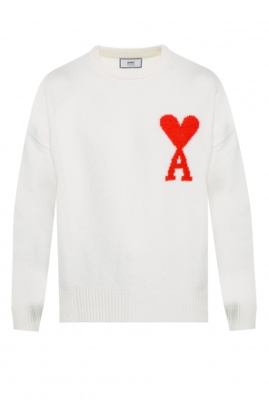 Logo-embroidered sweater od Ami Alexandre Mattiussi