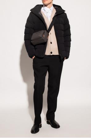 Wool cardigan with logo od Ami Alexandre Mattiussi