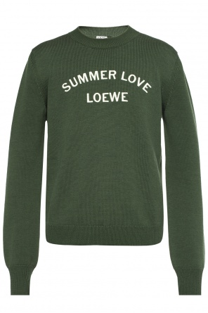 Embroidered lettering sweater od Loewe