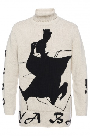 Embroidered turtleneck sweater od Yohji Yamamoto