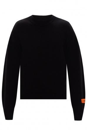 Printed rib-knit sweater od Heron Preston