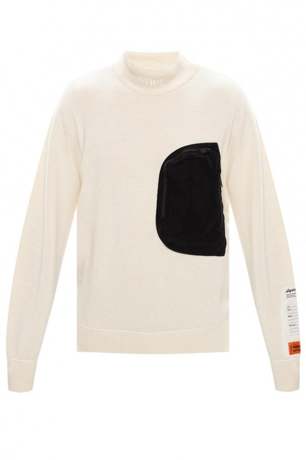 Heron Preston Rib-knit turtleneck sweater