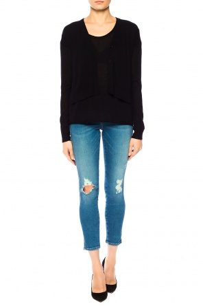 Short cardigan with cut-outs od Theory