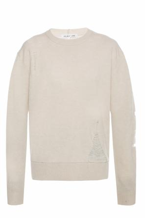 Sweater with a raw finish od Helmut Lang
