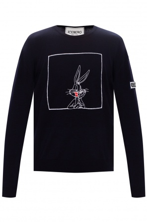 Wool logo sweater od Iceberg