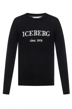 Cashmere sweater with a logo od Iceberg