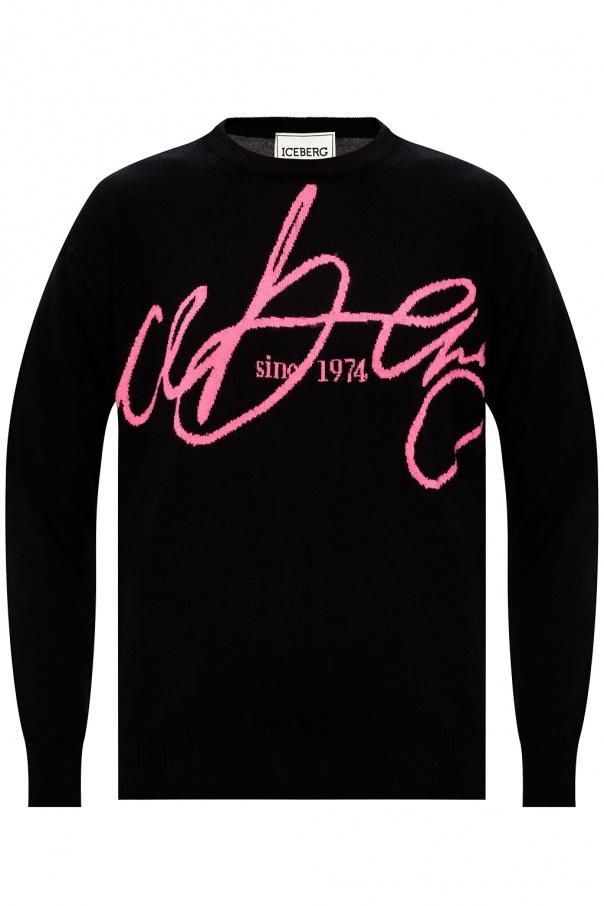 Iceberg Wool logo sweater