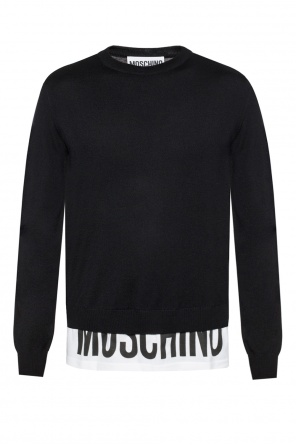Sweater with a printed logo od Moschino