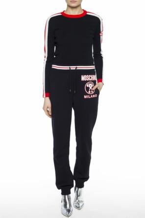 Logo-patched sweater od Moschino