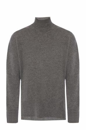 Cashmere sweater with a band collar od JIL SANDER