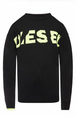 Logo-embroidered sweater od Diesel