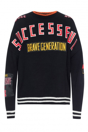 Patched oversize sweater od Diesel