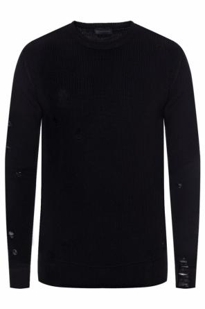 Ribbed sweater with holes od Diesel Black Gold