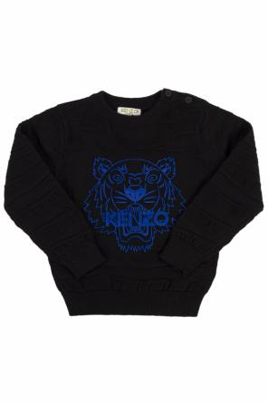 Patterned sweater with print od Kenzo Kids