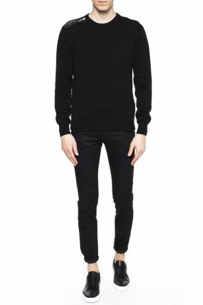 Sweater with sewn zip od Les Hommes