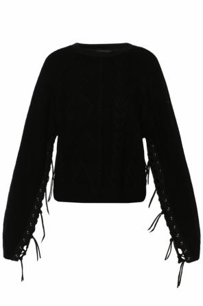 Braided sweater with lacing details od Diesel