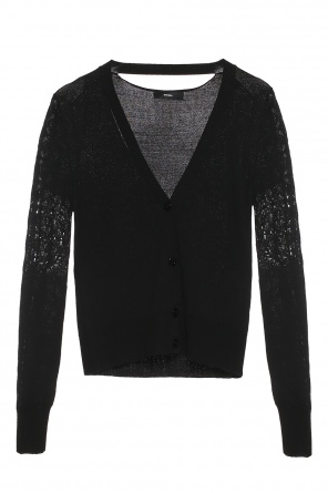 Cardigan with perforated sleeves od Diesel
