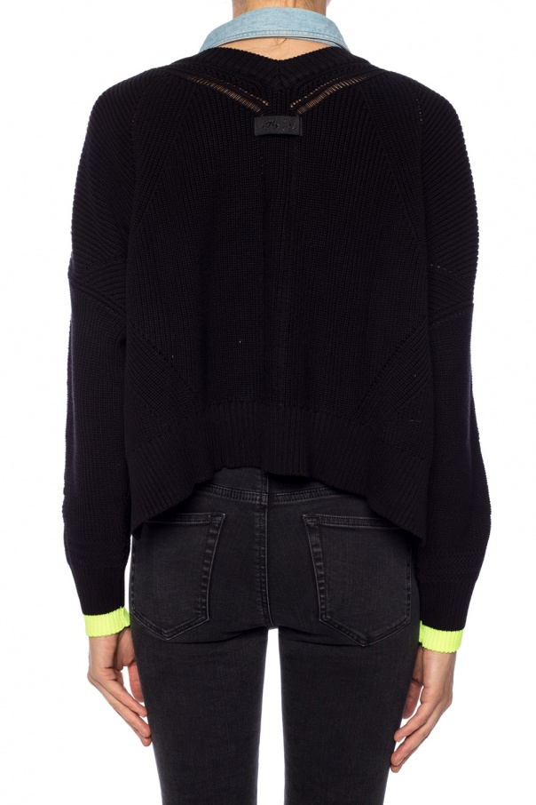 Logo-patched sweater od Diesel
