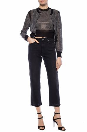 Transparent cropped sweatshirt od Diesel