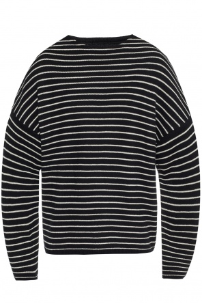 'marty crew' sweater with a stripe motif od AllSaints