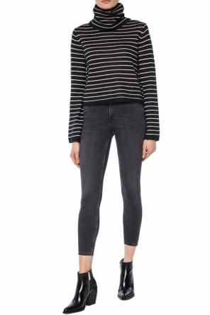 'marty' striped roll neck sweater od AllSaints