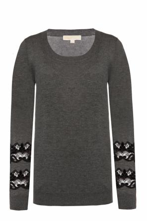 Sweater with lace inserts od Michael Kors