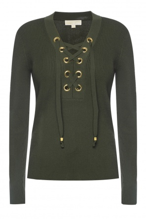 Drawstring collar sweater od Michael Kors