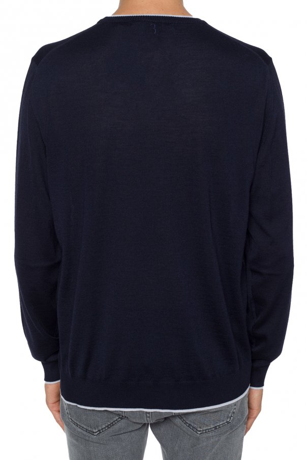 Logo-patched sweater od Billionaire
