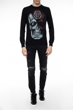 Silk sweater with skull od Philipp Plein