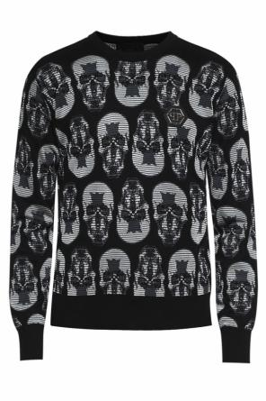 Sweater with motif of skulls od Philipp Plein