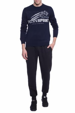 Logo-embroidered sweater od Plein Sport