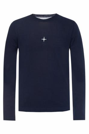 Logo-embroidered sweater od Stone Island