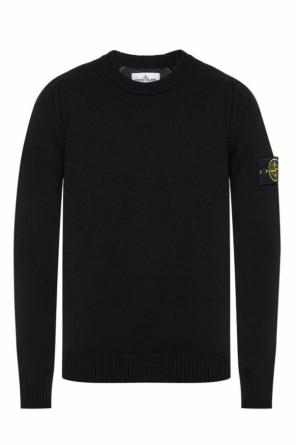 Sweater with removable logo od Stone Island