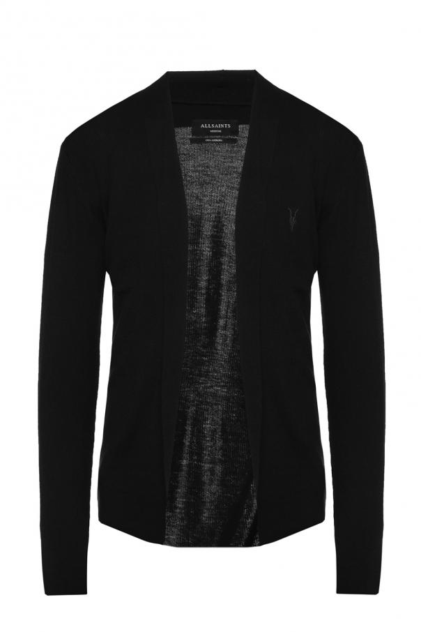 AllSaints 'Mode' logo-embroidered cardigan