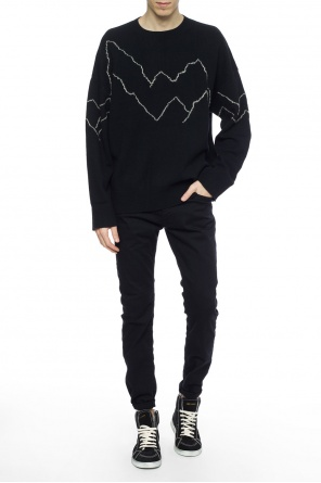 'mount' appliqued sweater od AllSaints