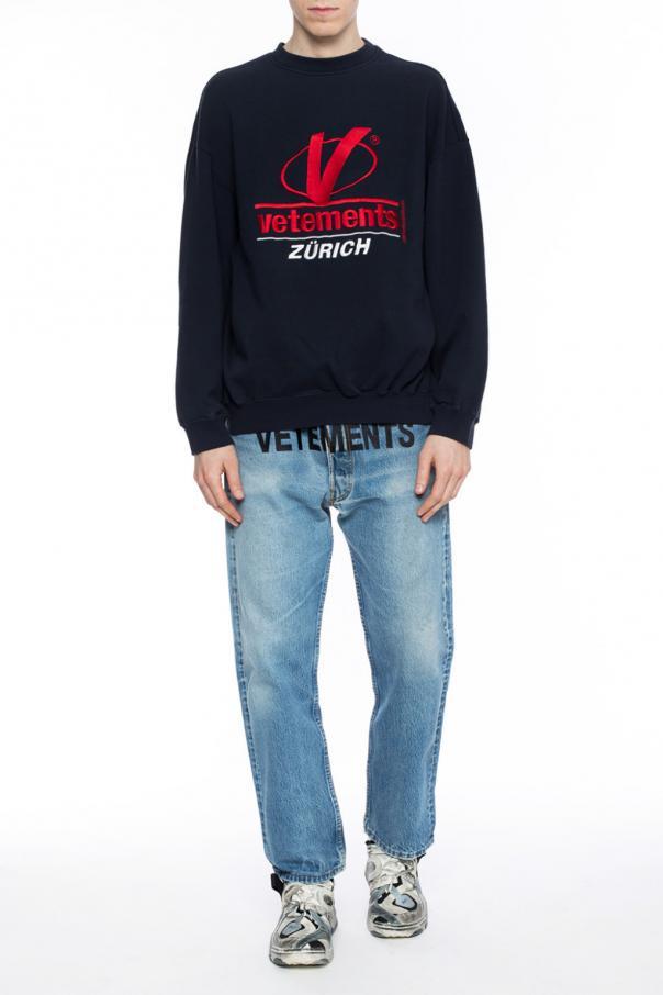 Stitched Lettering Oversize Sweatshirt Vetements Vitkac Shop Online