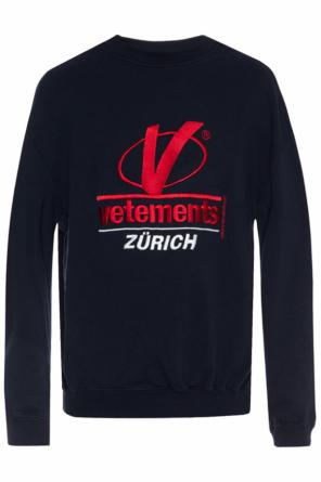 Stitched lettering oversize sweatshirt od Vetements