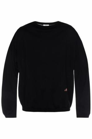 Embroidered logo sweater od Acne