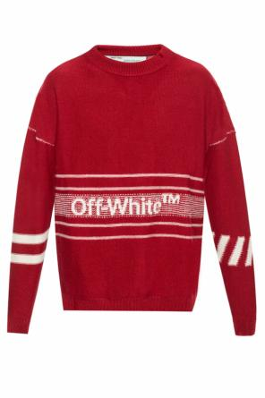 Logo-embroidered sweater od Off White
