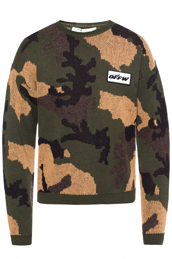 Camo Sweater Off White Vitkac Shop Online