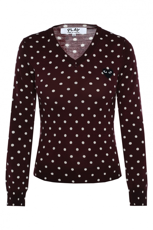 Comme des Garcons Play Polka dot sweater
